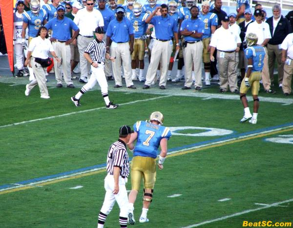 UCLA's hopes for a win limp off the field